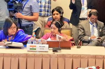 SCO विदेश मंत्रियों की बैठक में सुषमा स्वराज का संबोधन, कहा- श्रीलंका बम धमाकों ने ताजा किए पुलवामा के जख्म