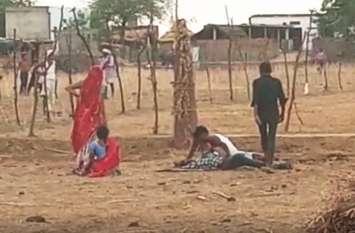 खूनी संघर्ष में नौ लोग गंभीर घायल, दो पक्षों में जमकर चले लाठी-भाटा और कुल्हाडी
