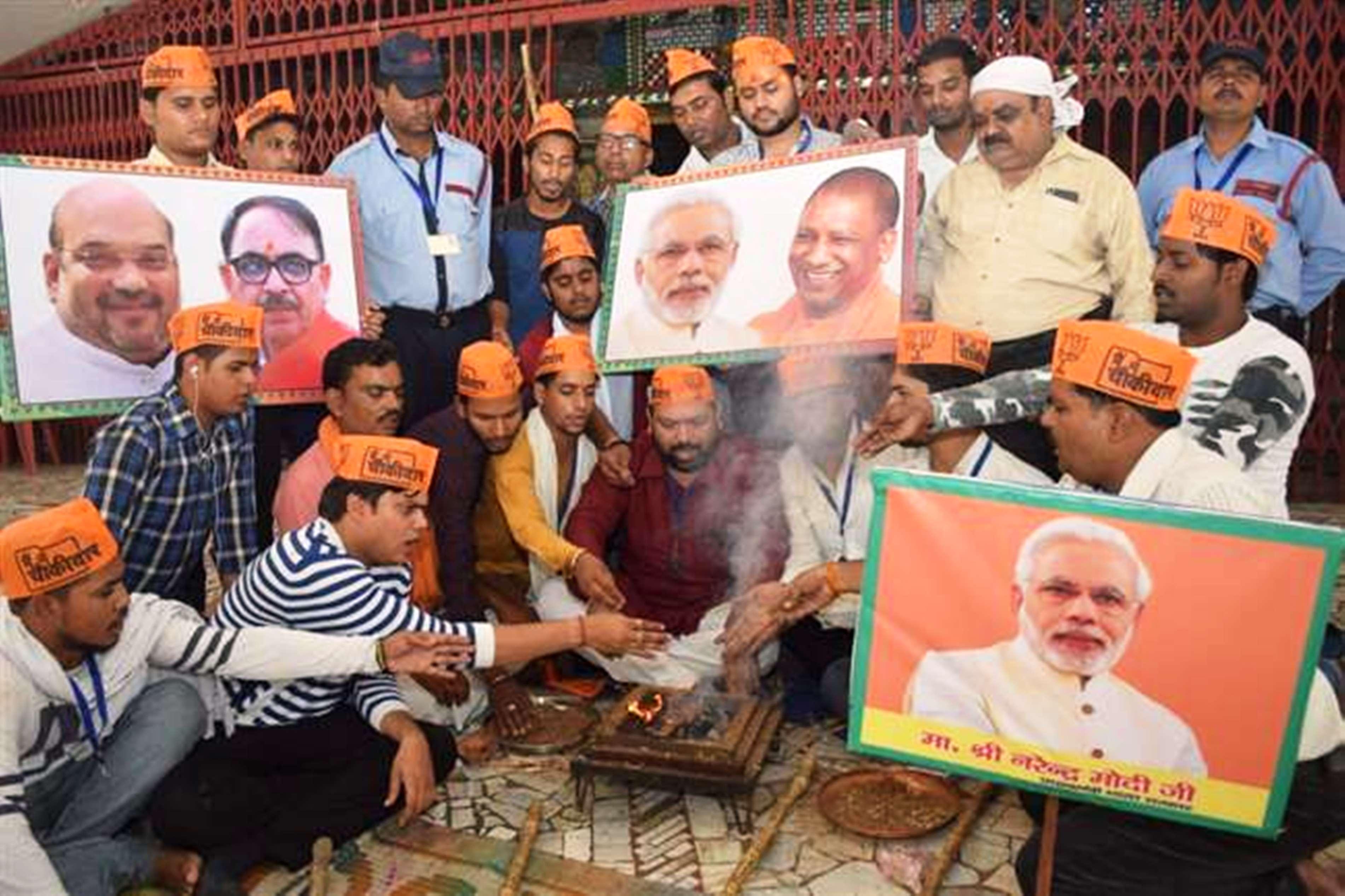 गंगा के तट पर पीएम मोदी की जीत के लिए महायज्ञ