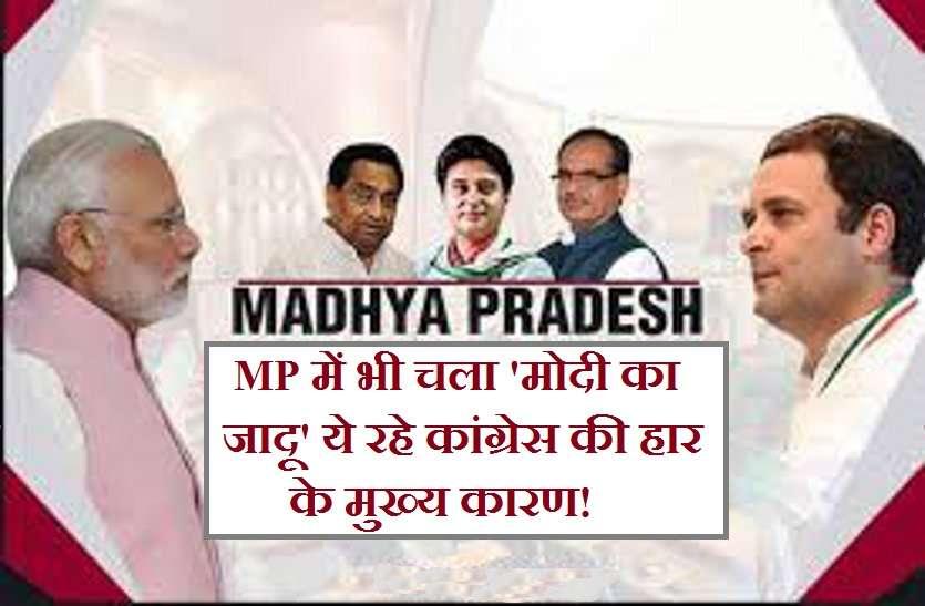 Loksabha 2019 Election Result : सर चढ़कर बोला मोदी का जादू, सिंधिया से लेकर दिग्विजय तक हारे अपनी सीट, ये हैं खास कारण...