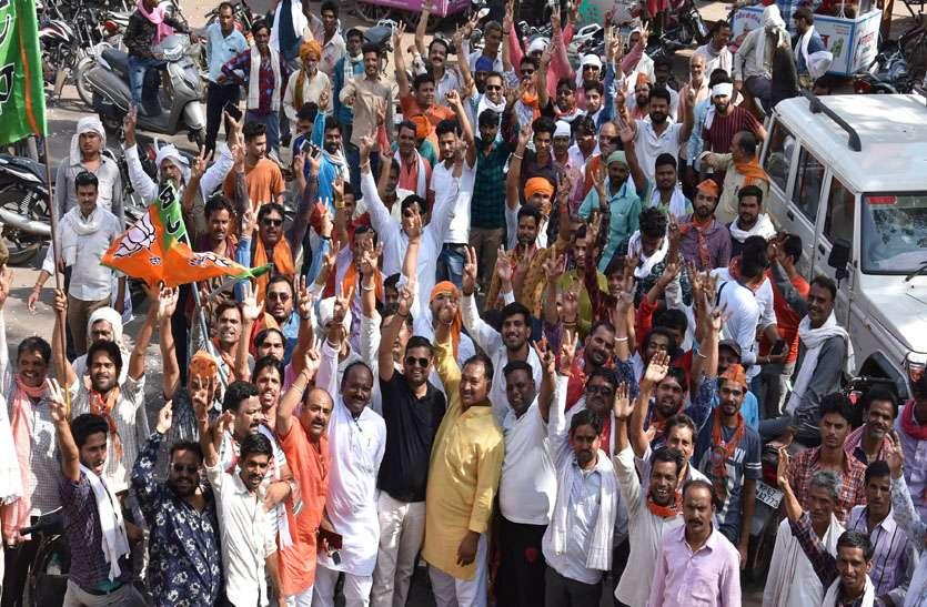 भाजपा ने जीता सिंधिया परिवार का गढ़