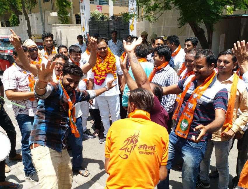 BJP workers celebration