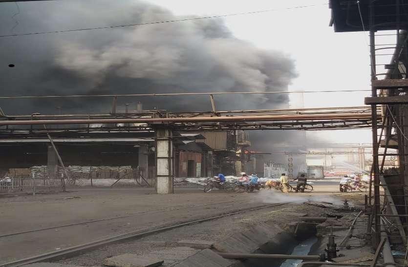 भिलाई इस्पात संयंत्र के कोक ओवन में लगी भीषण आग