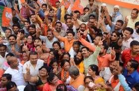 भाजपा की जीत पर जमकर मना जश्न- देखें तस्वीरें