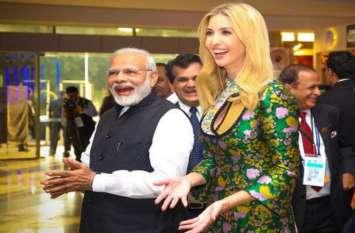 अमरीकी राष्ट्रपति डोनाल्ड ट्रंप की बेटी इवांका ट्रंप ने पीएम मोदी को दी जीत की बधाई