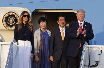 चार दिवसीय यात्रा पर जापान पहुंचे डोनाल्ड ट्रंप, प्रथम महिला मेलानिया ट्रंप साथ