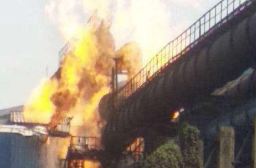 भिलाई स्टील प्लांट में लगी भीषण आग से खड़े होने लगे सुरक्षा को लेकर बड़े सवाल
