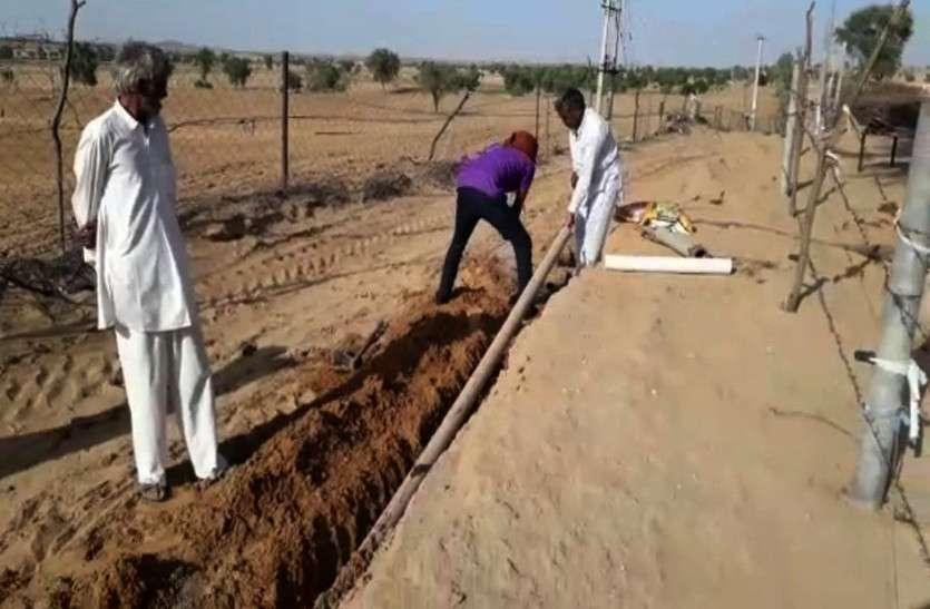 पाइप लाइन लीकेज ठीक होने से ग्रामीणों को राहत