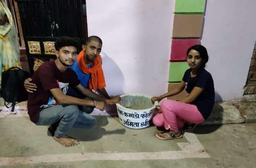 भीषण गर्मी में मवेशियों की प्यास बुझाने समाजसेवी युवाओं की खास पहल...