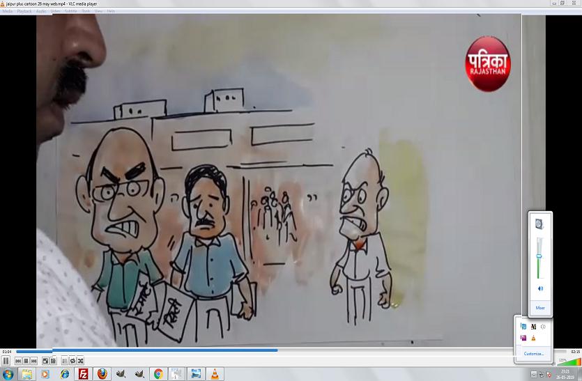 अब स्मार्ट सिटी में स्मार्ट रोड का काम होगा शुरू देखिए कार्टूनिस्ट नजरिया