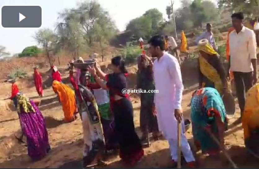VIDEO : राजस्थान पत्रिका के अमृतम जलम अभियान, तताई में श्रम दान में बहाया पसीना