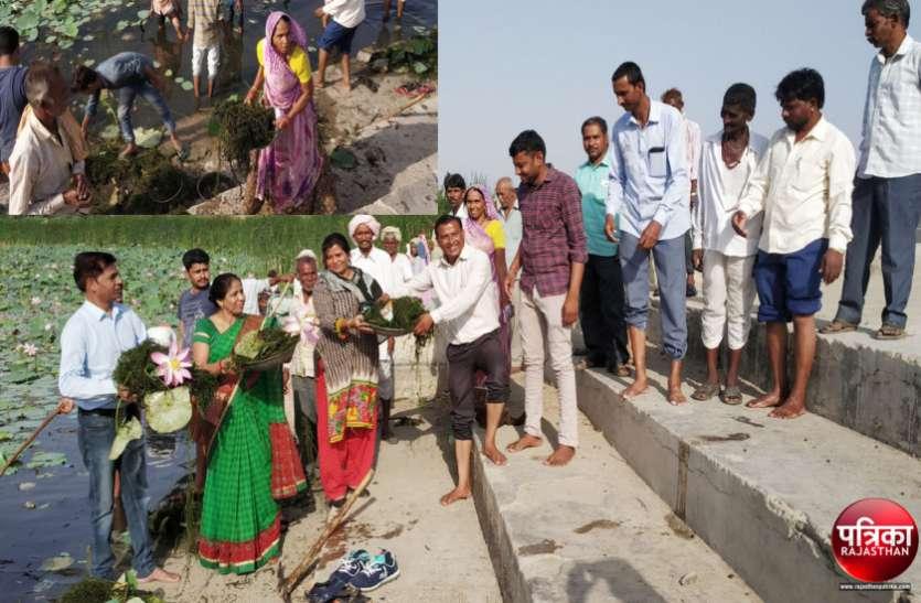 देखिए...वीडियो...बागीदौरा क्षेत्र के राणेला तालाब को निखारने महिलाओं ने भी दिखाया जुनून