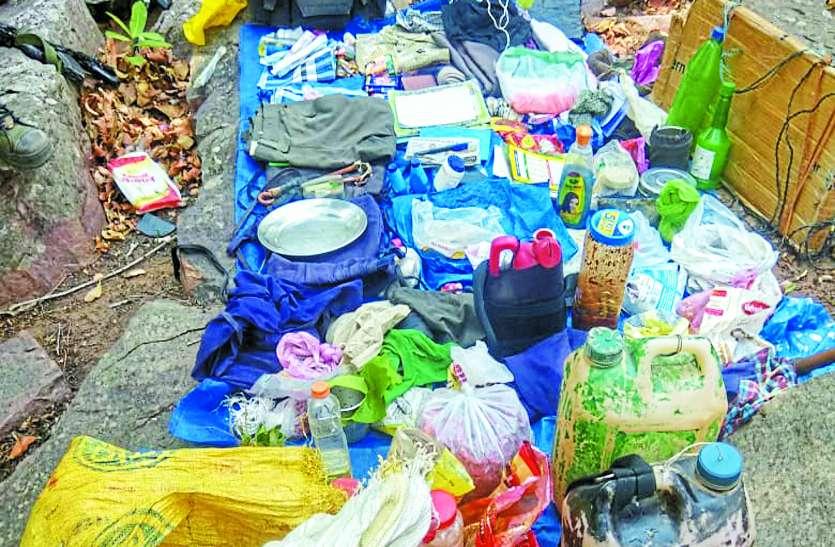 सर्चिंग के दौरान पुलिस और नक्सलियों में हुई मुठभेड़, गोला-बारुद समेत बरामद हुए ये सामान