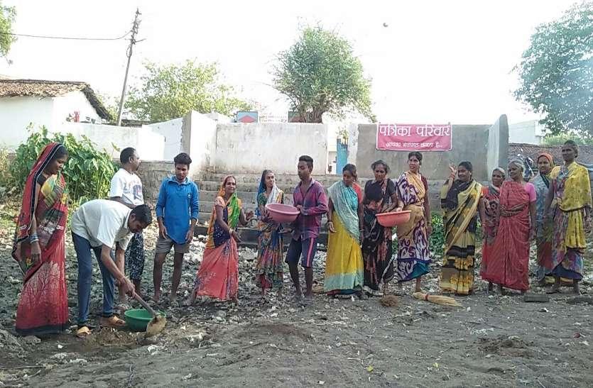 पत्रिका अमृतम जलम अभियान के तहत में चलाया गया अभियान, बड़ी संख्या में लोगों ने की तालाब की सफाई