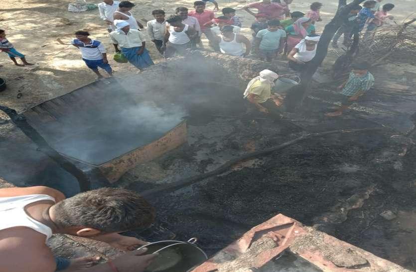 विद्युत तार बने तीन घरों के लिए काल, मच गई गांव में तबाही