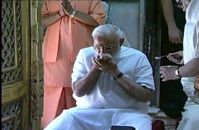 विराट विजय के बाद बाबा विश्वनाथ का पूजन कर TFC को निकले PM मोदी