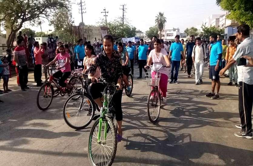 नैतिक, मयंक व ईशान साइकिल रेस के विजेता