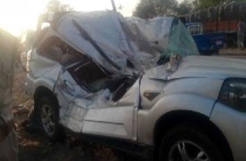 यूपी एसटीएफ की गाड़ी हुई हादसे का शिकार, सिपाही की मौत