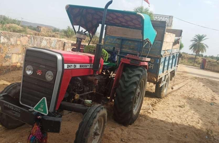 बजरी परिवहन माफिया बेलगाम, पुलिसकर्मी का सिर फोड़ा