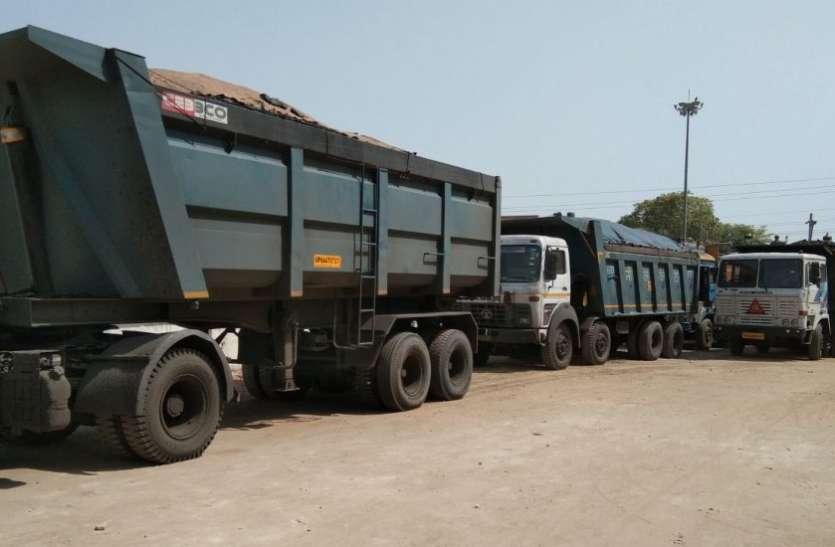 कोल ट्रांसपोर्टरों के हौंसले बुलंद, माजनमोड़ से फिर पकड़े गए 24 वाहन