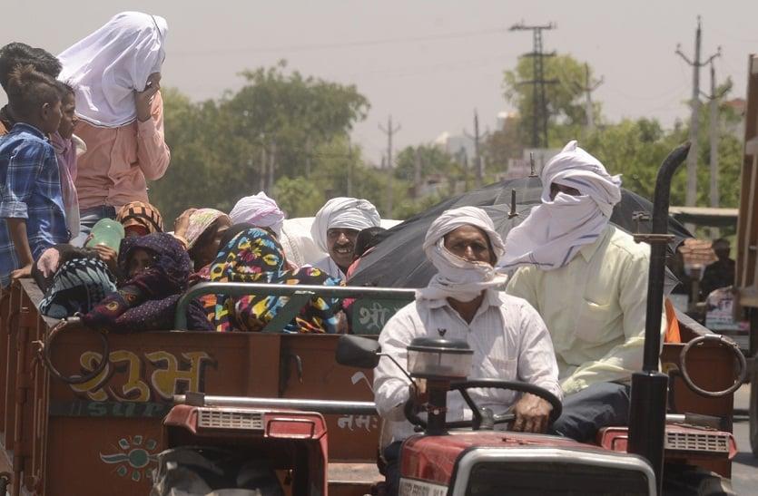 Bharatpur News तापमान 45 डिग्री पार, लोग गर्मी से बेहाल