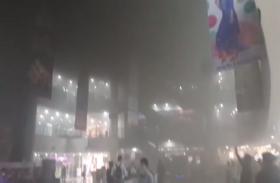 आशिमा मॉल में लगी आग, मॉल के अंदर भरा धुंआ ही धुंआ, देखें वीडियो