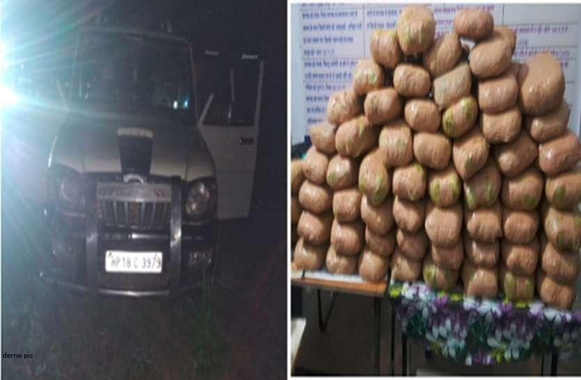 ओडिशा से रायपुर आ रहा 55 लाख का गांजा पुलिस ने किया बरामद, दो आरोपी गिरफ्तार