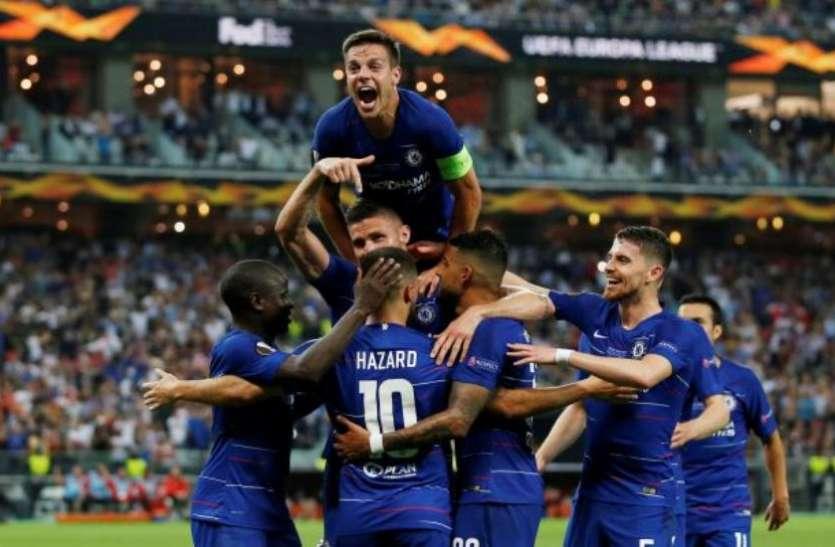 चेल्सी ने आर्सेनल को रौंदकर जीता यूरोपा लीग का खिताब, हैजार्ड ने किए दो गोल