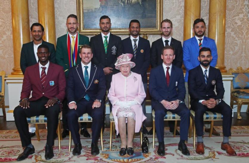 वर्ल्ड कप 2019: महारानी एलिजाबेथ से मिले सभी टीमों के कप्तान, विराट बोले- गर्व की बात