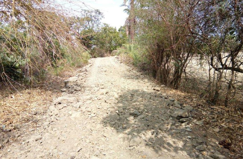 video: बारिश में श्मशानघाट पहुंचने तक होती थी परेशान, ग्रामीणों ने चंदा कर बनाया रोड