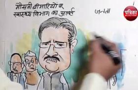 मौसमी बीमारिओं पर सरकार  का अलर्ट पर जनता का जवाब देखिए कार्टूनिस्ट लोकेन्द्र की नजर से