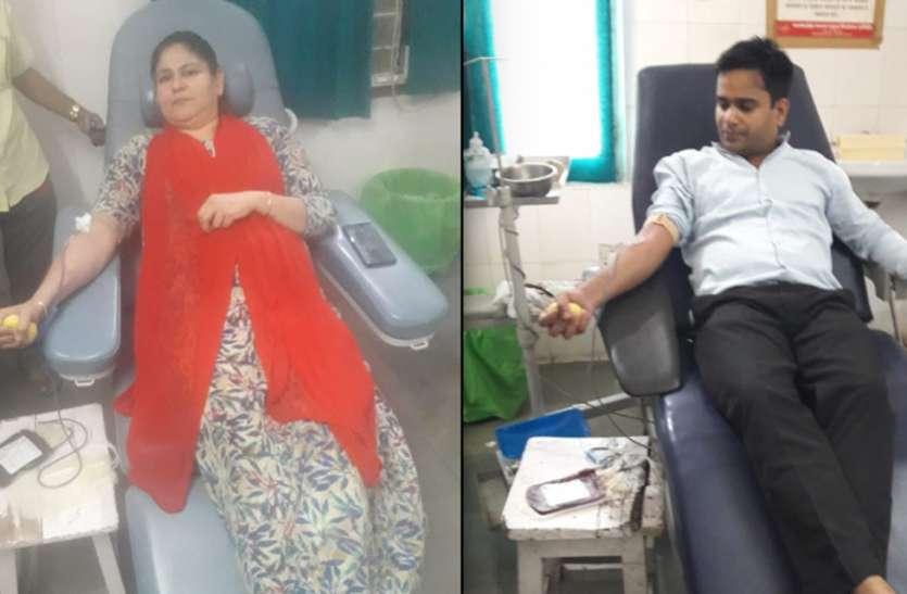 मंशु टेकवानी ने नौ बार किया रक्तदान, महिलाओं को किया प्रेरति