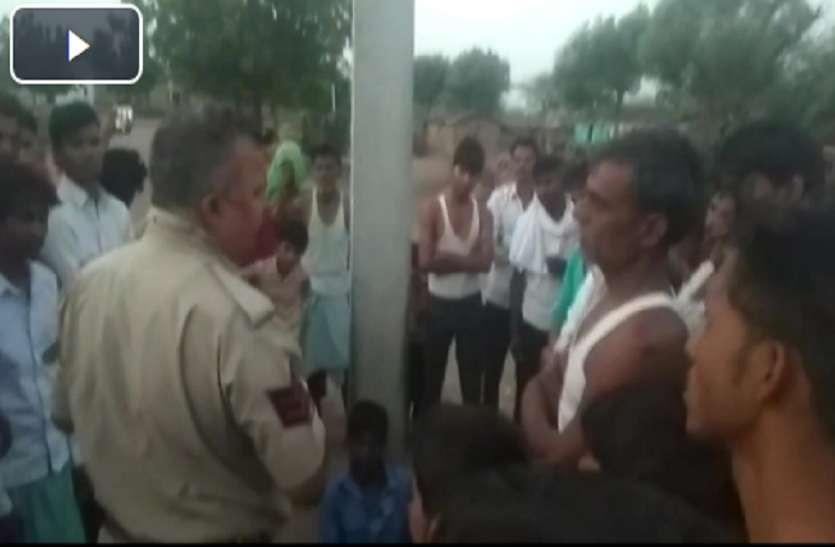 ग्रामीणों ने संदिग्ध व्यक्ति को पकड़कर खंभे से बांधा, खण्डार थाना क्षेत्र के हिम्मतपुरा ढाणी की घटना