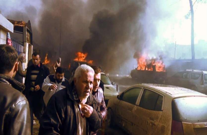 सीरिया के अजाज प्रांत में कार बम धमाका, 19 लोगों की मौत, 21घायल