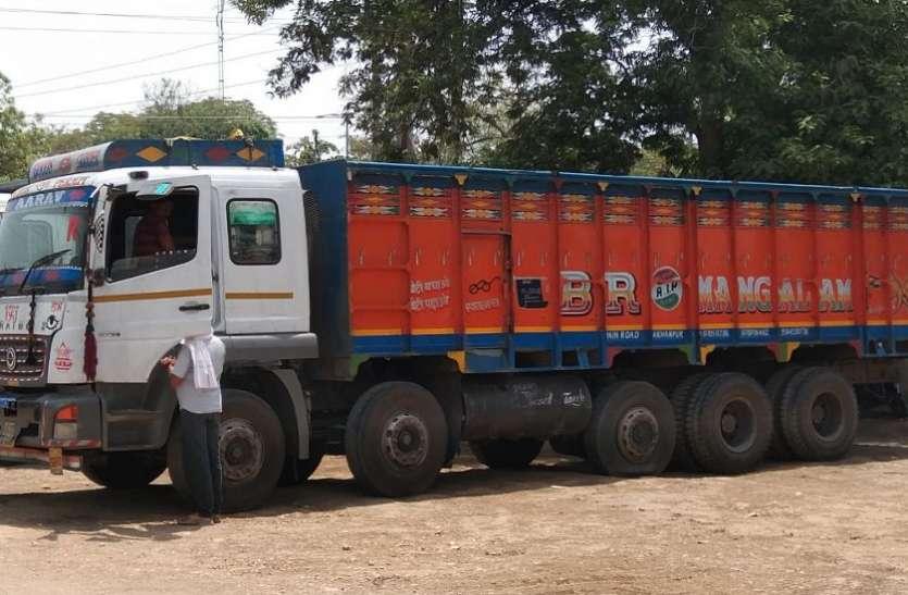 कोल परिवहन करते आधा दर्जन ट्रेलर जब्त, शहर के माजन मोड़ से गुजरने पर हुई कार्रवाई, जानिए पुलिस ने क्यों पकड़ा