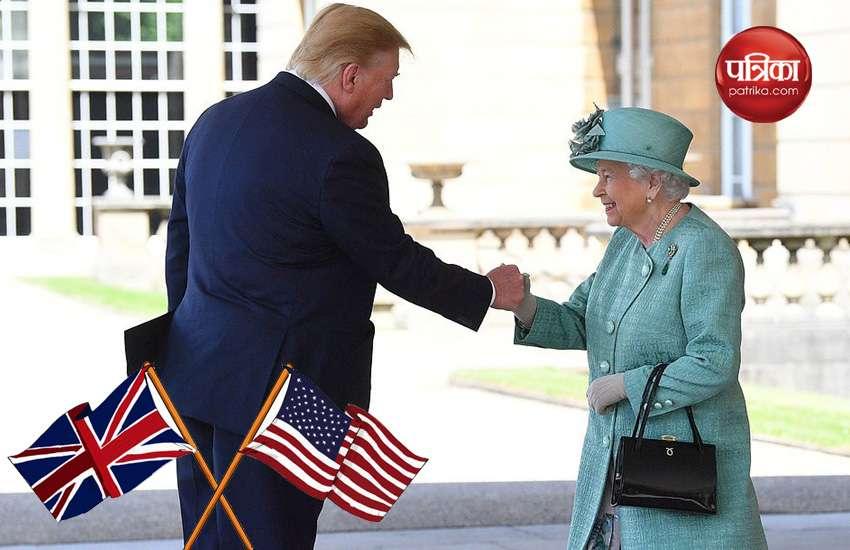 बकिंघम पैलेस में अमरीकी राष्ट्रपति का शानदार स्वागत! शाही परिवार के साथ इस अंदाज में नजर आए ट्रंप