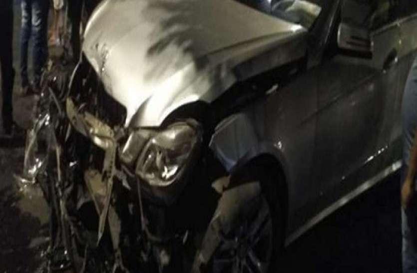 हीरा व्यापारी के बेटे ने शराब के नशे में तेज रफ़्तार मर्सिडीज से मारी टक्कर