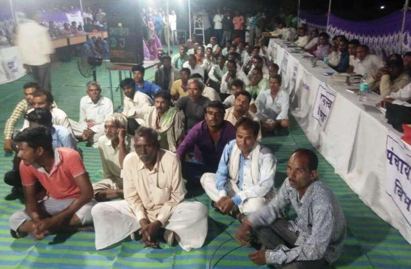 डाबड़ा में आयोजित हुई जिला स्तरीय रात्रि चैपाल