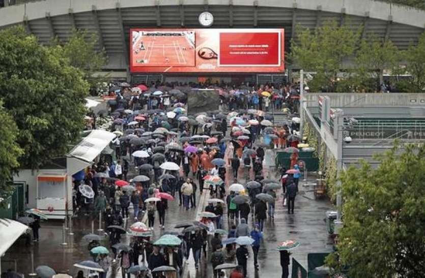 फ्रेंच ओपनः बारिश के कारण नहीं खेला जा सका एक भी मैच