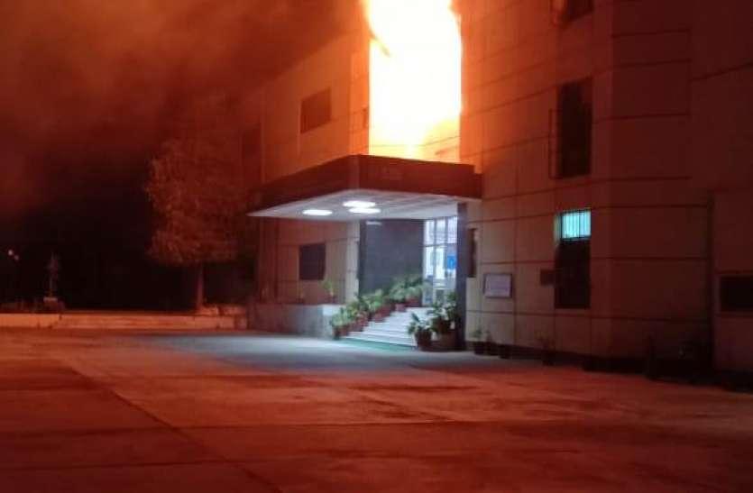बीकानेर- एसबीआइ ट्रेनिंग सेंटर में लगी आग