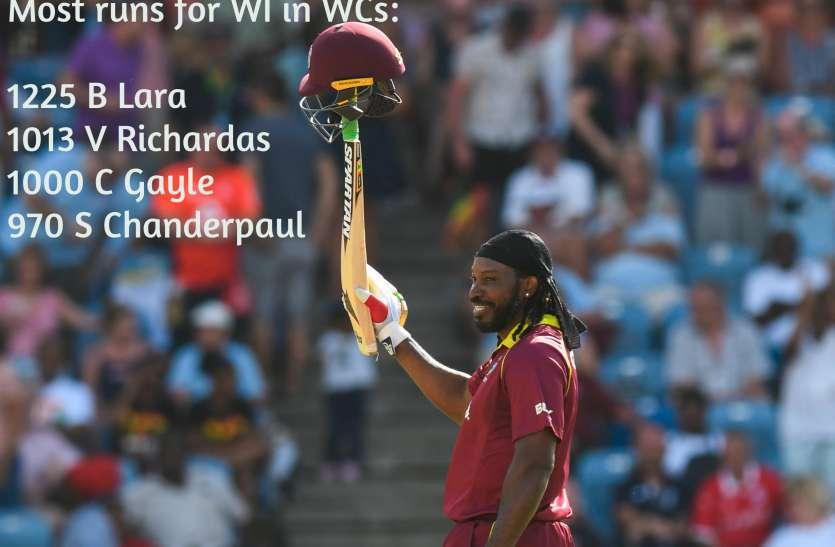 Cricket World Cup: लारा-रिचर्ड्स के बाद क्रिस गेल ने हासिल किया ये मुकाम