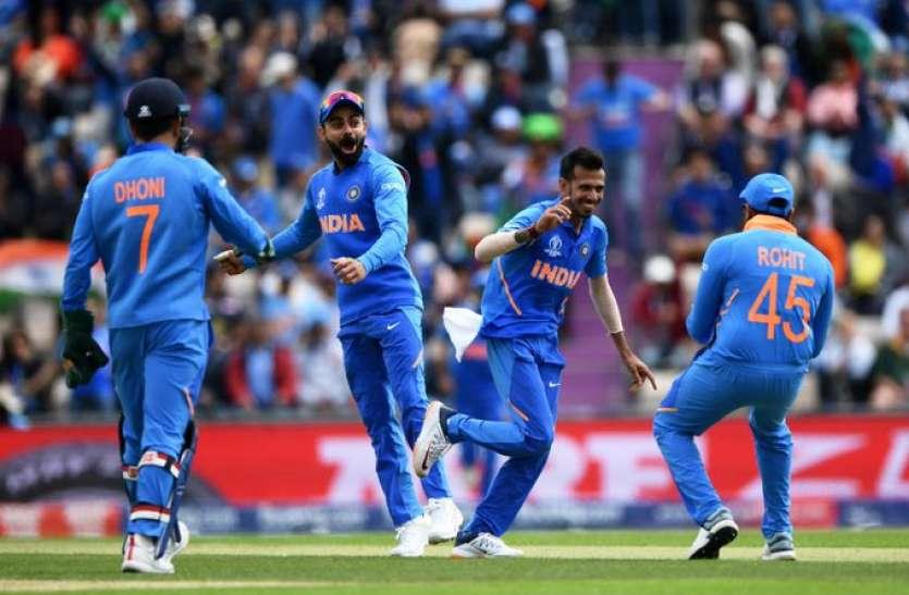 वर्ल्ड कप में भारत ने की जीत के साथ शुरुआत, कप्तान कोहली ने रोहित के सिर रखा जीत का सेहरा