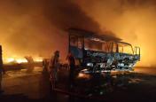 आनंदपुर साहिब में पचास दुकानें जलकर राख हुई, करोड़ों रूपए के नुकसान का अनुमान
