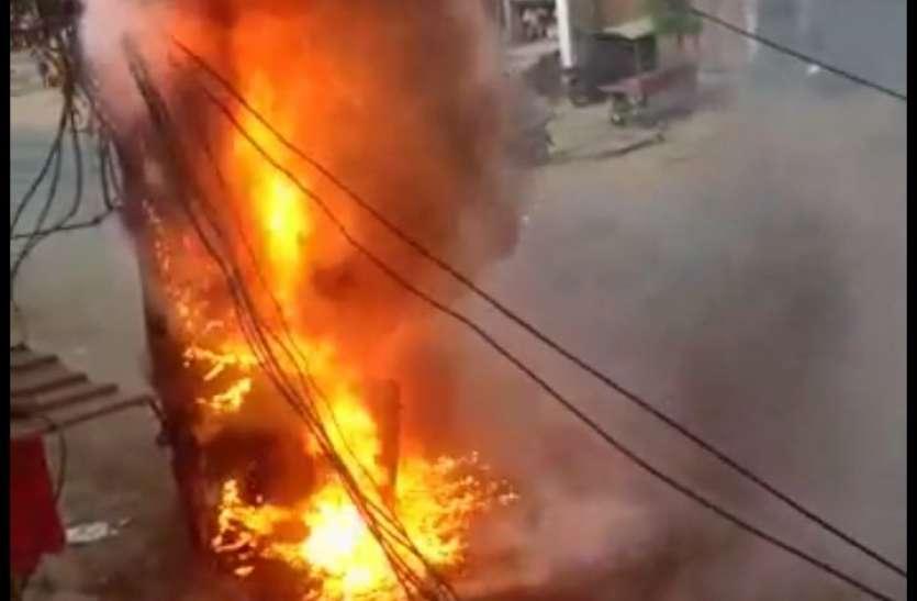 धमाकों से दहला पनागर, मचा हड़कंप - देखें लाइव वीडियो