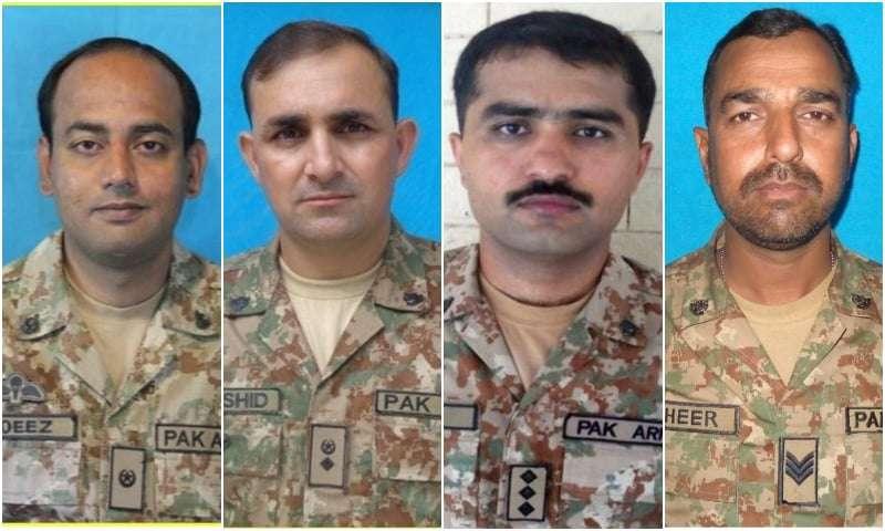 Four armymen killed