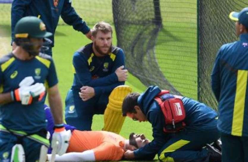 WC 2019: डेविड वॉर्नर के दनदनाते शॉट से फूटा भारतीय मूल के गेंदबाज का सिर, ऑस्ट्रेलियाई खेमे के फूले हाथ-पांव
