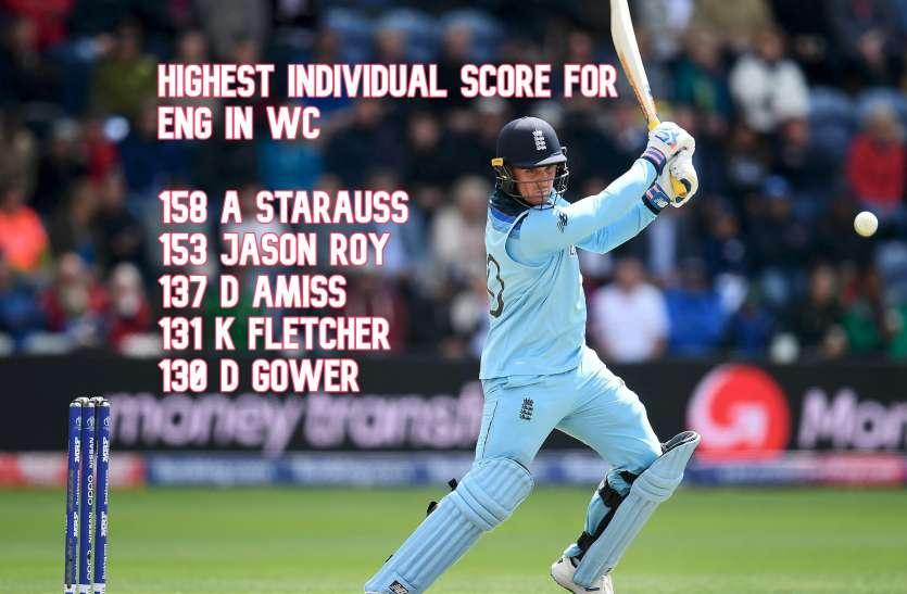 WC Record: इंग्लैंड की ओर से वर्ल्ड कप में दूसरे सबसे कामयाब बल्लेबाज बने जेसन रॉय