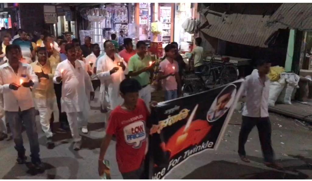 मासूम को न्याय दिलाने के लिए कांग्रेस विधायक संग सड़क पर उतरी यहां की जनता