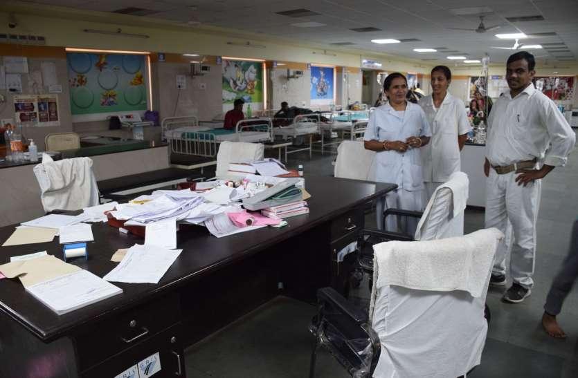 video: अकेले नर्सिंग स्टाफ केभरोसे बाल चिकित्सालय के वार्ड