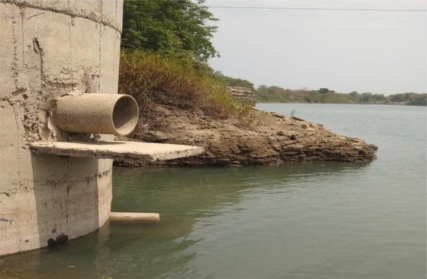 video: लाखों लीटर पानी की बढ़ी शहर में खपत, पंप हाउस का दूसरा पाइप भी आया ऊपर